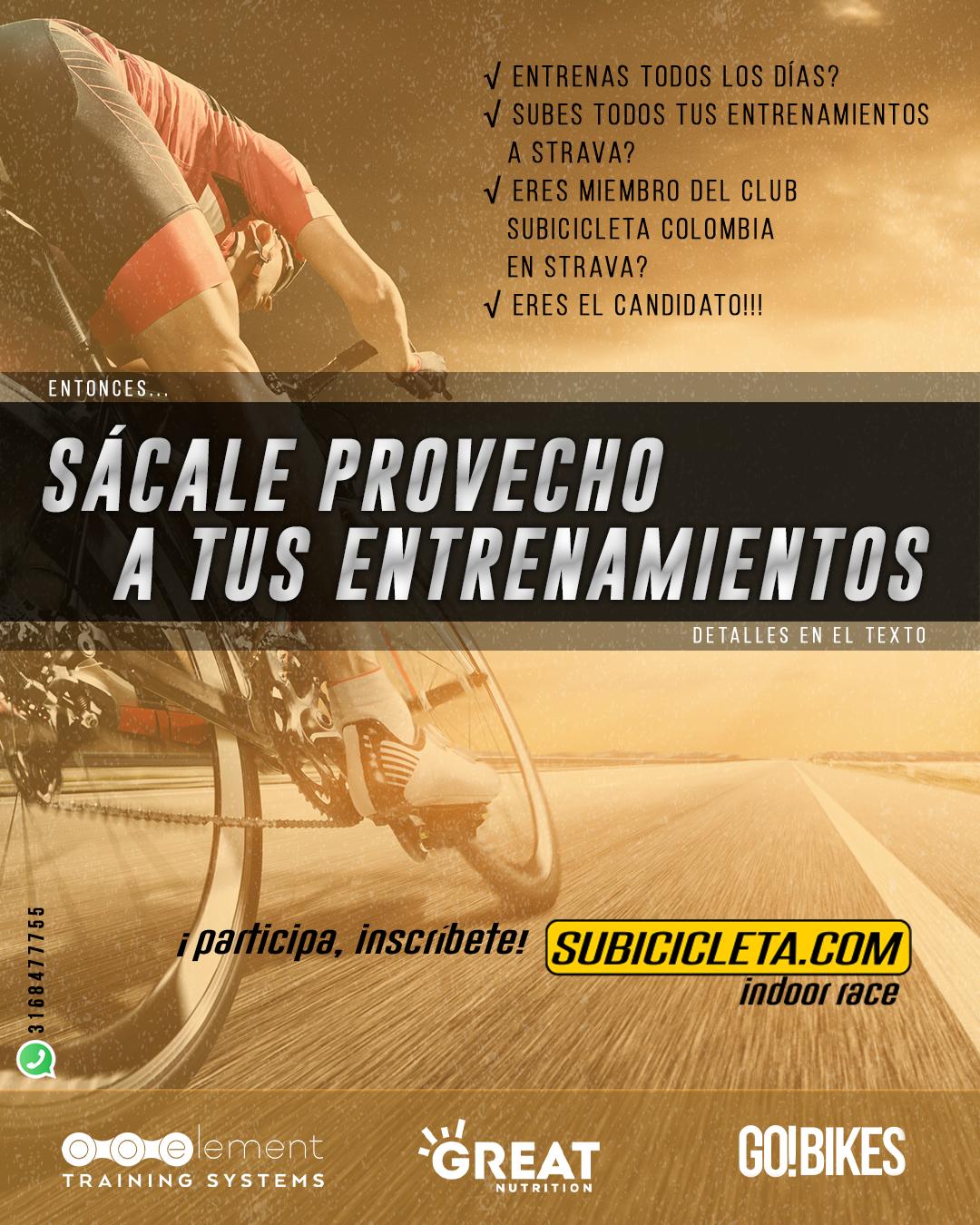 Lanzamiento subicicleta indoor race