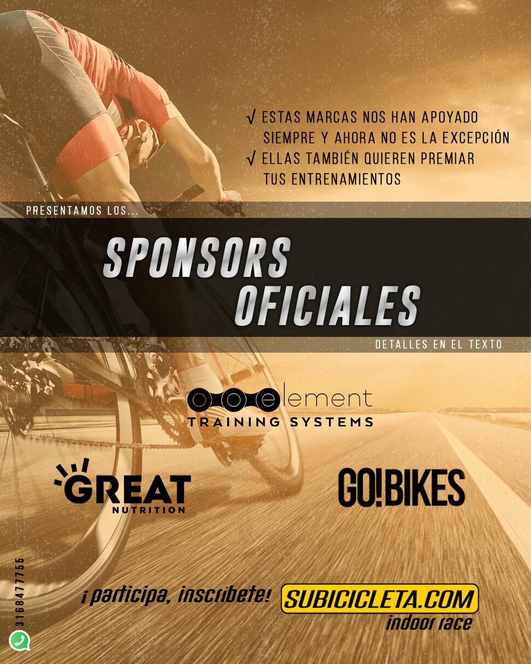 Sponsors subicicleta indoor race