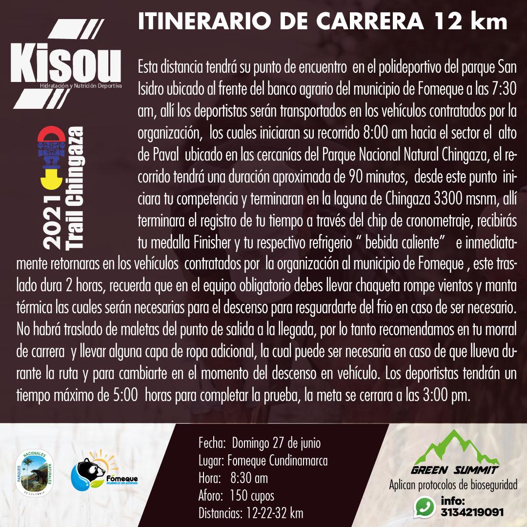 4 itinerario de carrera 12 km trail chingaza  2021