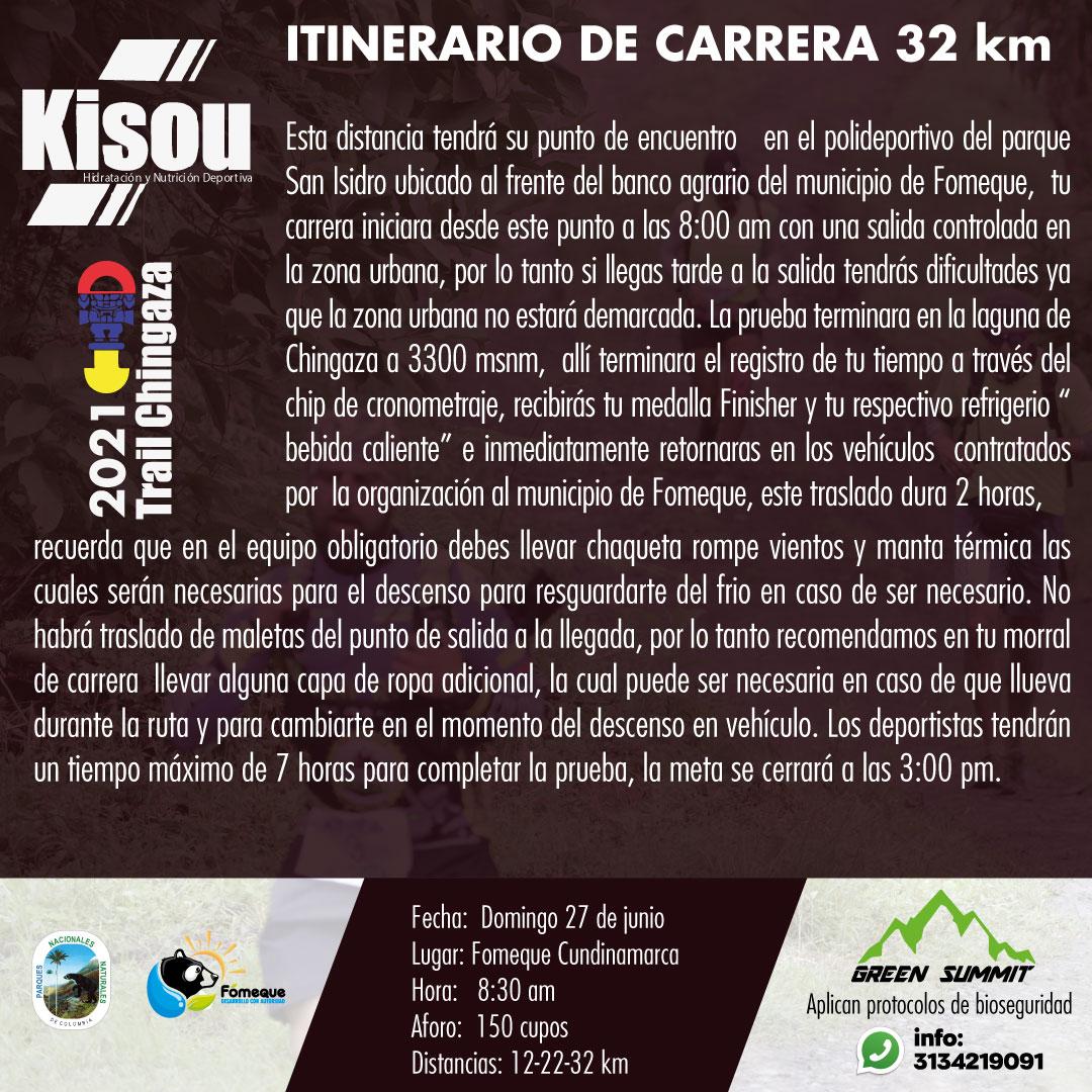 2 itinerario de carrera 32 km trail chingaza  2021