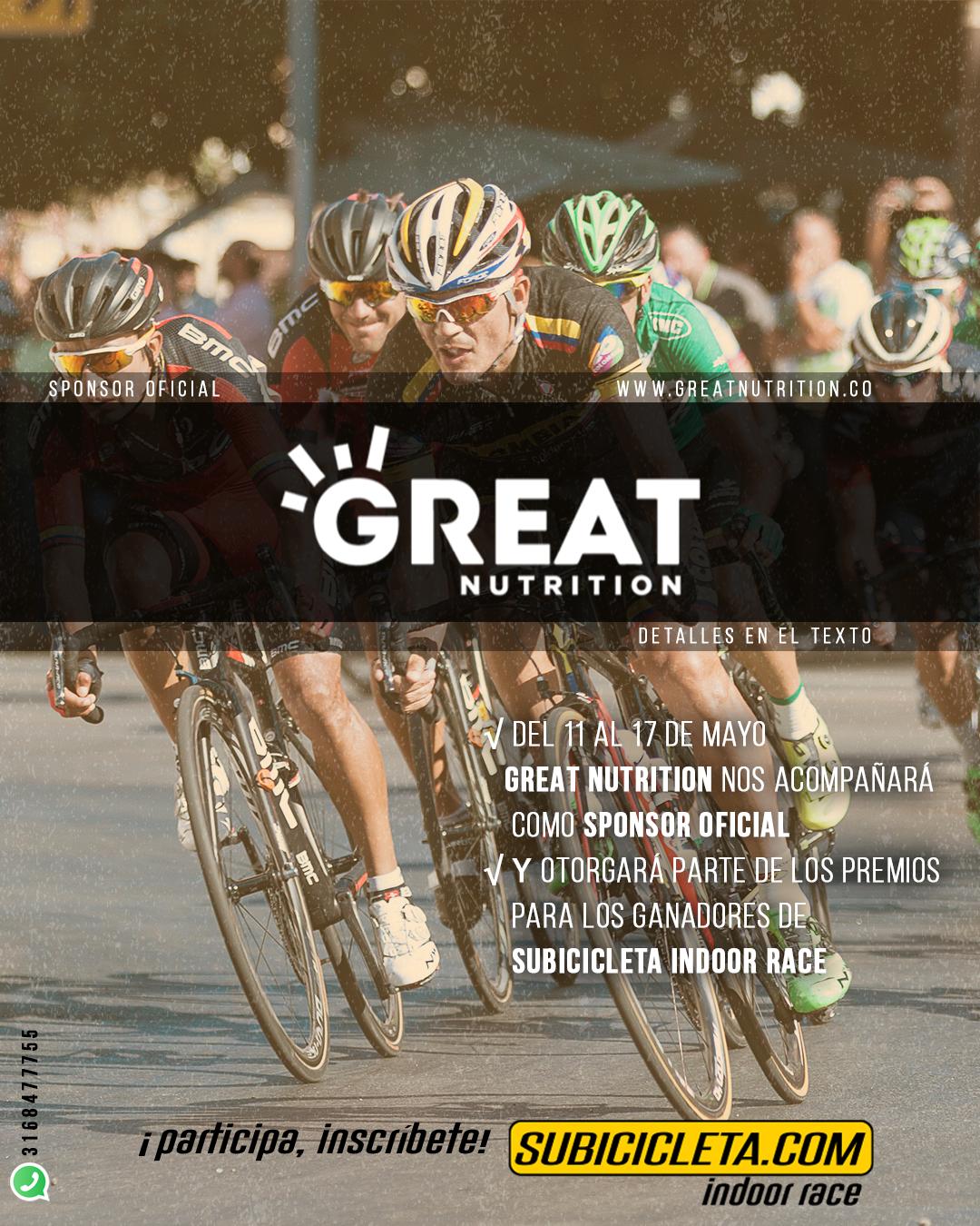 Great nutrition subicicleta indoor race 1